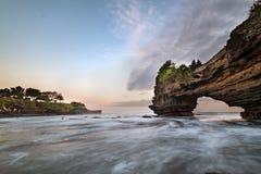 Tempio del lotto & di Batu Bolong di Tanah immagini stock libere da diritti