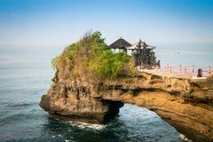 Tempio del lotto di Tanah nell'isola di Bali, Indonesia Fotografia Stock