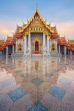 Tempio del marmo o di Wat Benjamaborphit Fotografie Stock