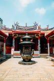 Tempio del monastero del taoista di Yuanqing a Changhua, Taiwan immagine stock libera da diritti