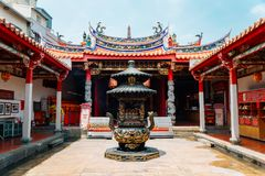 Tempio del monastero del taoista di Yuanqing a Changhua, Taiwan immagini stock libere da diritti