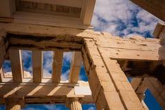 Tempio del Partenone della Grecia dell'acropoli Fotografia Stock
