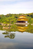 Tempio del Pavillion dorato (kinkaku-ji), Kyoto, Giappone fotografie stock
