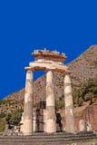 Tempio del pronoia di Atena a Delfi Fotografie Stock