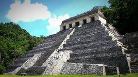 Tempio del ` s di Jaguar nella zona archeologica di Palenque archivi video