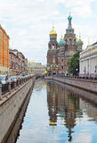 Tempio del salvatore su sangue al canale di Griboedov Immagine Stock Libera da Diritti