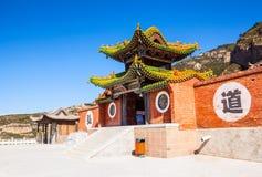 Tempio del taoista nella montagna Hengshan (grande montagna nordica). Fotografia Stock