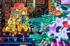 Tempio del taoista in Taipei - Taiwan Fotografia Stock Libera da Diritti