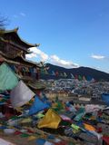 Tempio del Tibet nella città di Shangrila, Cina Immagini Stock