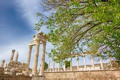 Tempio dell'acropoli, greco antico immagini stock libere da diritti