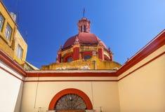 Tempio dell'entrata della cupola di Belen Guanajuato Mexico Fotografia Stock Libera da Diritti
