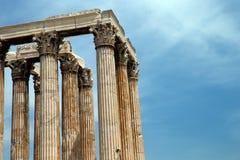 Tempio dell'olimpionico Zeus Fotografia Stock