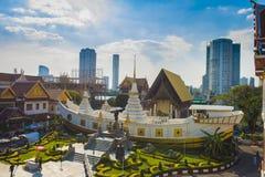 Tempio della barca di Wat Yannawa The fotografie stock