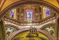Tempio della basilica del vetro macchiato della cupola di Belen Guanajuato Mexico Fotografia Stock Libera da Diritti