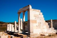 Tempio della demetra, isola di Naxos Immagini Stock