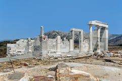 Tempio della demetra, Naxos, Grecia Fotografie Stock Libere da Diritti