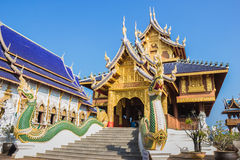 Tempio della divieto-tana di Wat, chiangmai, Tailandia fotografia stock libera da diritti