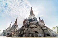 Tempio della foto di B/W a Ayutthaya, Tailandia fotografia stock