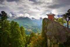 Tempio della montagna di Yamadera Fotografia Stock Libera da Diritti