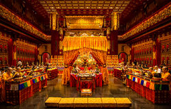 Tempio della reliquia del dente di Buddha e museo, Singapore fotografia stock