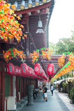 Tempio della reliquia di Buddha Toothe in Chinatown a Singapore, con Singa fotografia stock
