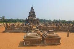 Tempio della riva in Mahabalipuram, India fotografia stock