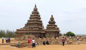 Tempio della spiaggia di Mahabalipuram fotografia stock libera da diritti