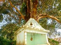 Tempio della stazione ferroviaria di Helem piccolo nell'Assam immagini stock