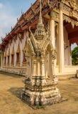 Tempio della Tailandia con poca torre Fotografia Stock