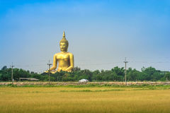 Tempio della Tailandia della cinghia del ANG del muang di Wat Fotografie Stock