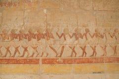 Tempio delle pitture di parete di Hatshepsut Fotografia Stock Libera da Diritti