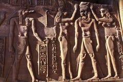 Tempio delle pitture murale della tomba di Philae Egitto immagine stock libera da diritti