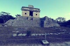 Tempio delle sette bambole, Dzibilchaltun, Yucatan, Messico Fotografie Stock