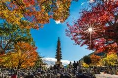Tempio di Adashino Nenbutsu-ji, Tokyo Fotografie Stock Libere da Diritti