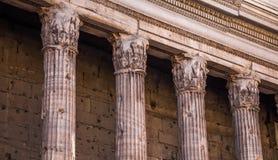 Tempio di Adriano Fotografía de archivo libre de regalías