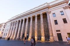 Tempio di Adriano, Roma Italia Fotos de archivo