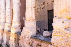Tempio di Adriano, Roma Italia Foto de archivo