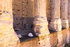 Tempio Di Adriano, Roma Włochy Obrazy Royalty Free