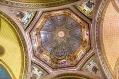 Tempio di angeli del vetro macchiato della cupola di Belen Guanajuato Mexico Fotografia Stock Libera da Diritti