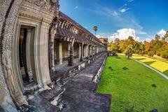 Tempio di Angkor Wat Fotografia Stock Libera da Diritti