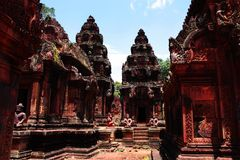 Tempio di Angkor Wat Immagine Stock