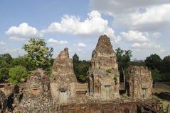 Tempio di Angkor Wat Cambodia Fotografia Stock Libera da Diritti