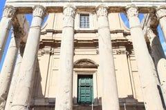 Tempio di Antonino e Faustina Lizenzfreie Stockfotos