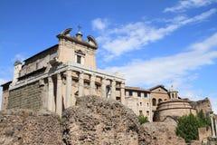 Tempio di Antonino e Faustina Stockfotos