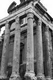 Tempio di Antoninus e di Faustina Immagini Stock Libere da Diritti