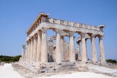Tempio di Aphaia in Aegina Fotografia Stock Libera da Diritti