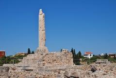 Tempio di Apollo, Aegina fotografie stock libere da diritti
