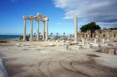 Tempio di Apollon a Adalia Immagini Stock