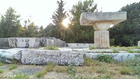Tempio di Asklepion Fotografia Stock Libera da Diritti