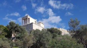 Tempio di Atena in Propylaia immagini stock libere da diritti